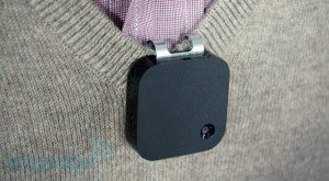 The Narrative Clip attached to a Shirt